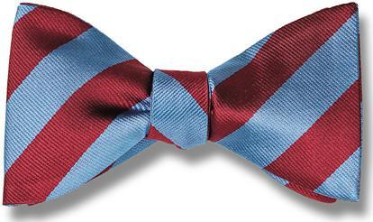 bow ties american made red blue stripes
