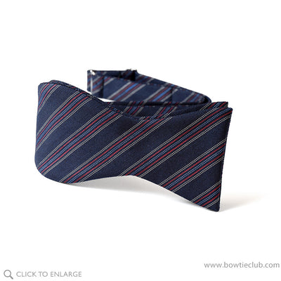 self tie wool challis bow tie in navy