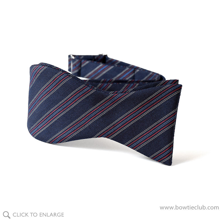 pre-tied wool challis bow tie in Navy