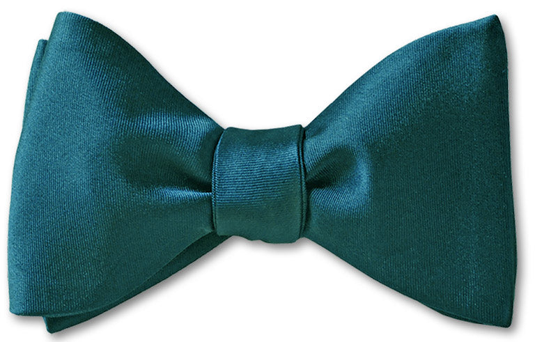 Peacock Satin Bow Tie