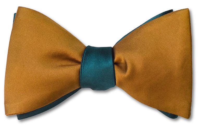 Teal/Ochre Satin Reversible