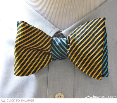 2 panel thin stripe bow tie