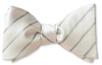 White stripes bow tie