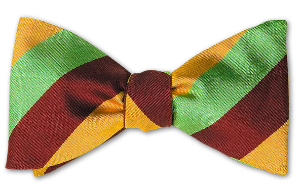 bow ties american made lime green burgundy stripes