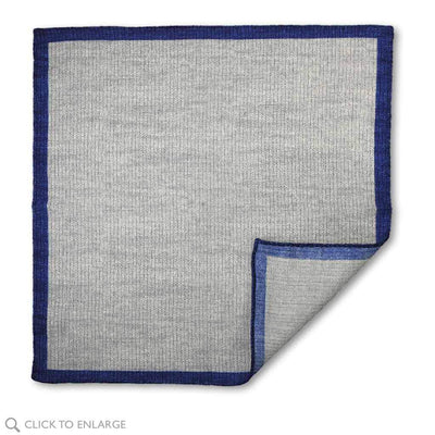 gray wool two tone pocket square