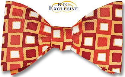 bow ties designer american made red silk squares