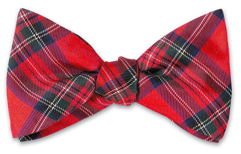 Prince of Wales Silk Bow Tie