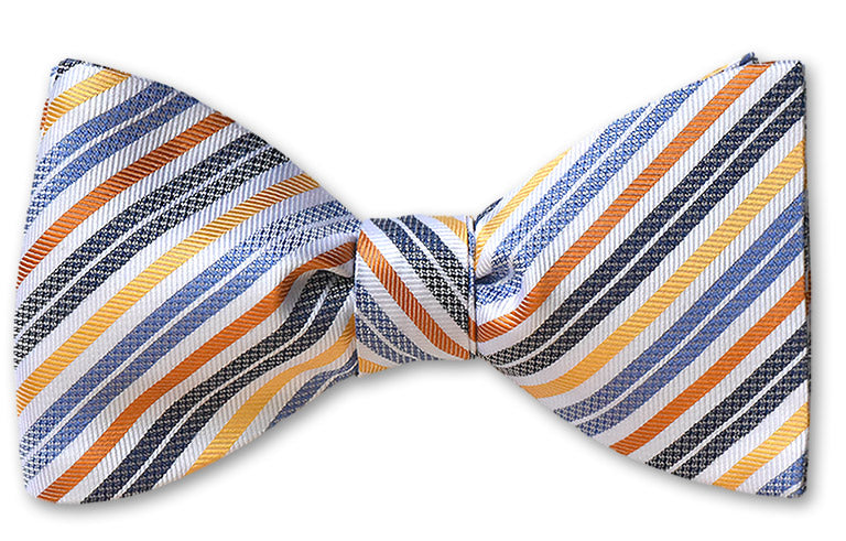 Provincetown summer stripe silk bow tie