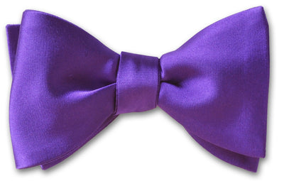 Purple Satin Pre-tied