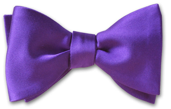 Purple Silk Formal Wedding Bow Tie