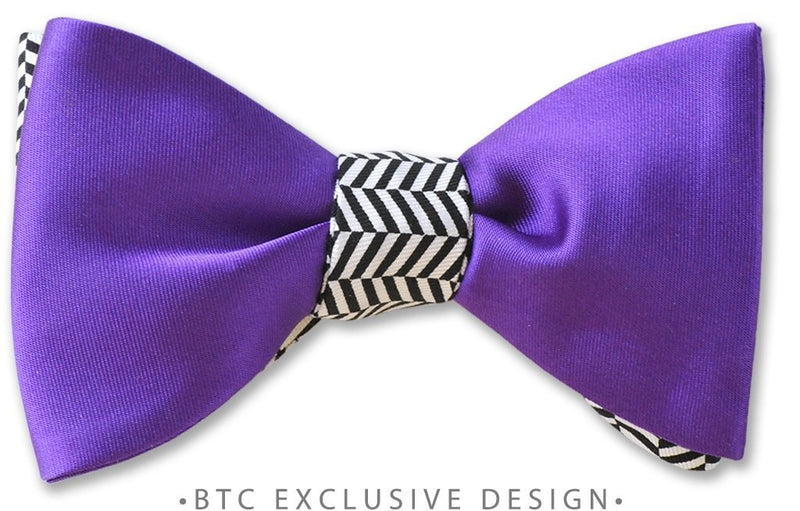 Purple Fusion Bow Tie