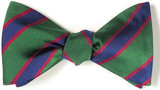 bow ties american made green blue stripes