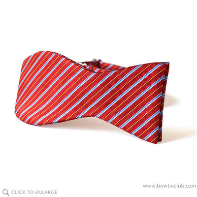self tie red holly christmas stripe bow tie
