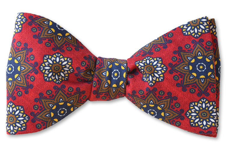 Red Starburst Cotton Bow Tie
