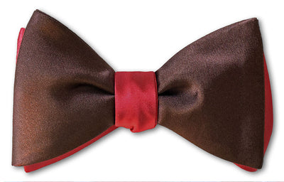 Red/Chocolate Satin Reversible