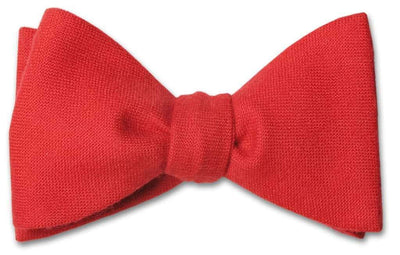 Red Wool Bow Tie