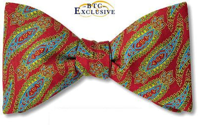 bow ties paisley red silk american made