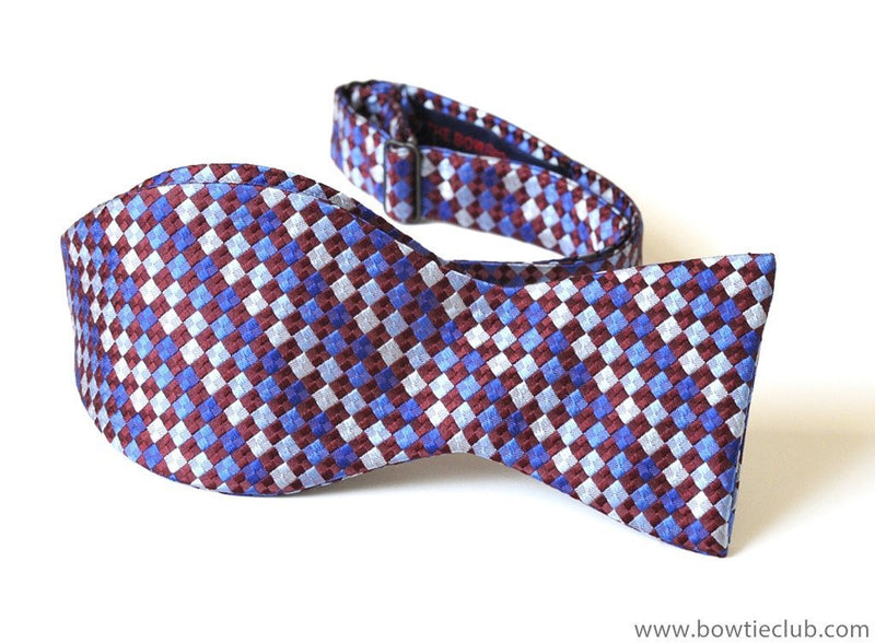 Purple Red Woven Bow Ties | American Made Bow Ties | Rome