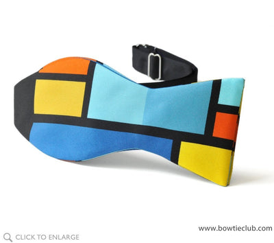Rothko color block self tie bow tie