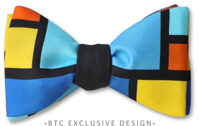 Rothko Color Block pretied bow tie