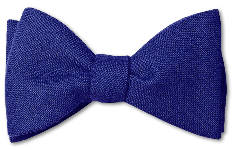 Royal Blue Wool Bow Tie