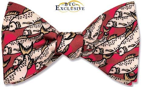 Salmon Run Bow Tie