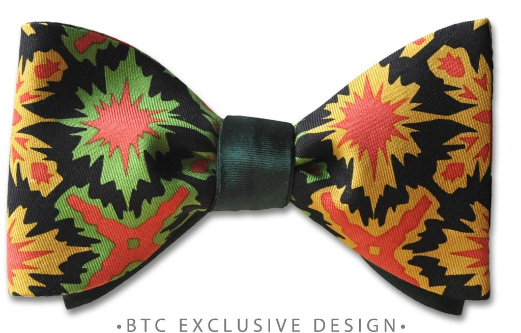 Reversible Bow Tie Hunter Green British Silk
