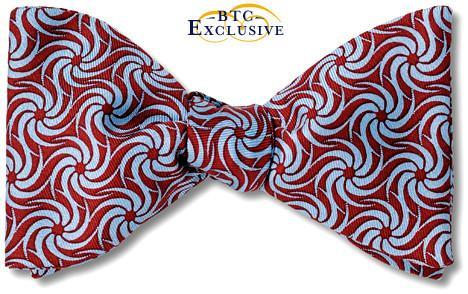 bow ties designer american made burgundy silk swirl