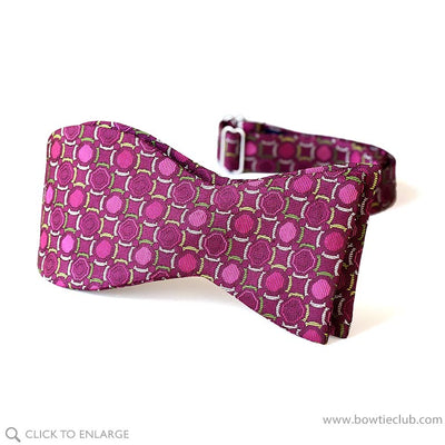 self tie red magenta silk woven bow tie