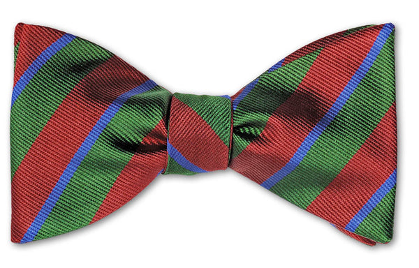 bow ties american made green red stripes
