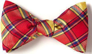 red tartan plaid American Made bow ties