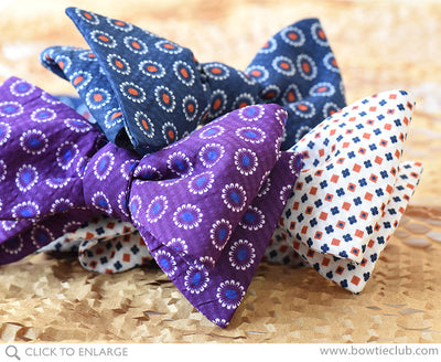 group of seersucker bow ties