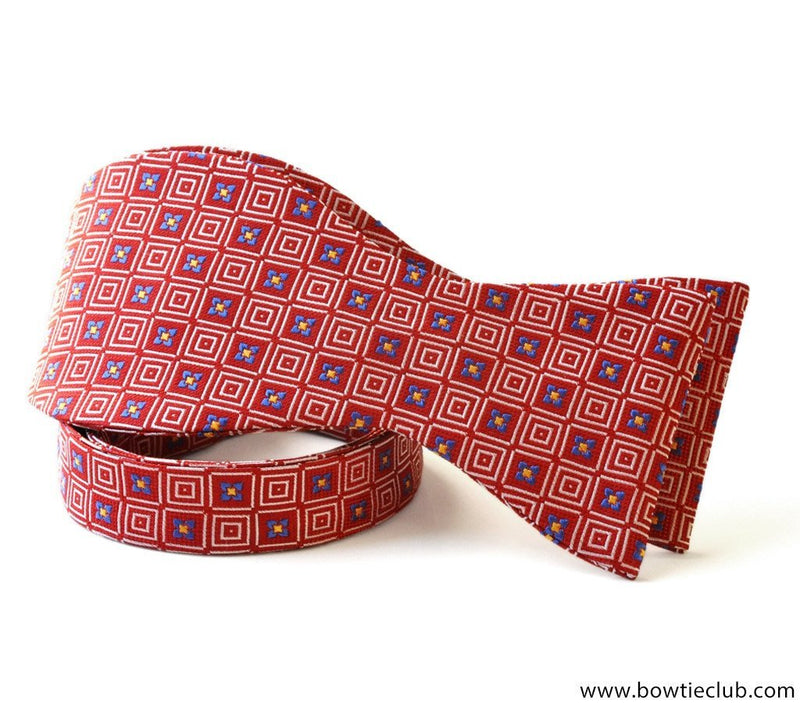 Red American Made Woven Silk Bow Ties