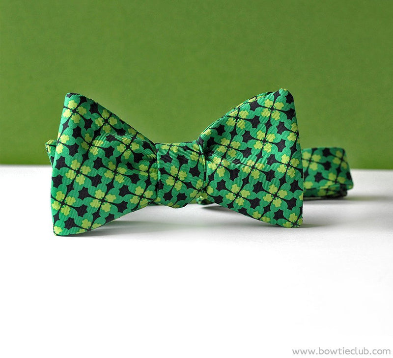 St Patrick's Day Clover American Made Bow Tie | Shamrock