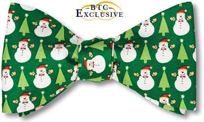 christmas tree snowman bow tie