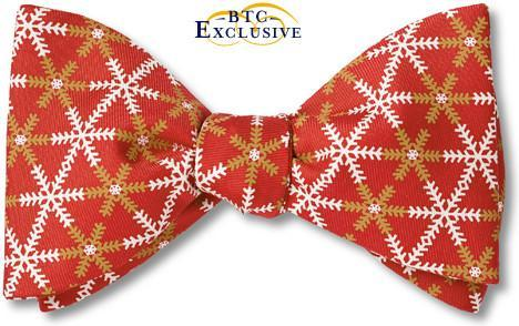 Christmas Snowflake bow ties