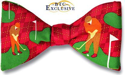 bow ties golf american made gift silk