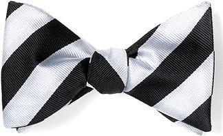 stripes bow ties black white