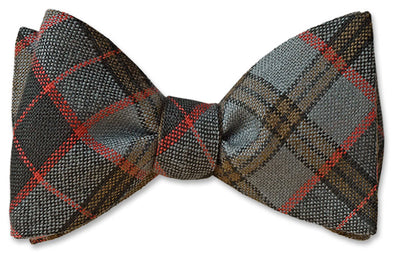 Stewart Old Weathered Wool Tartan Bow Ties