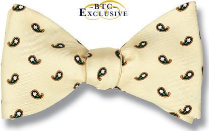 bow ties yellow silk florets teardrops american made