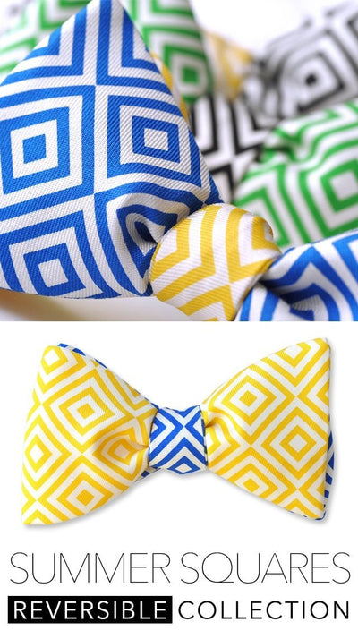 geometric collection of bow ties