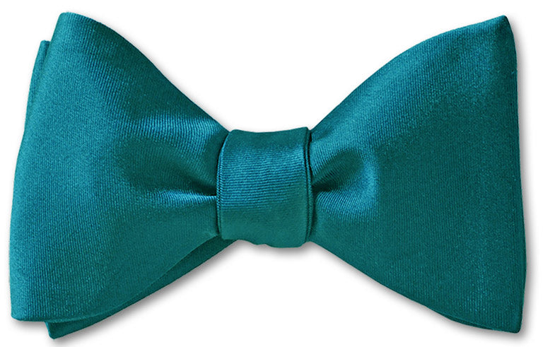 Teal Satin Pre-tied