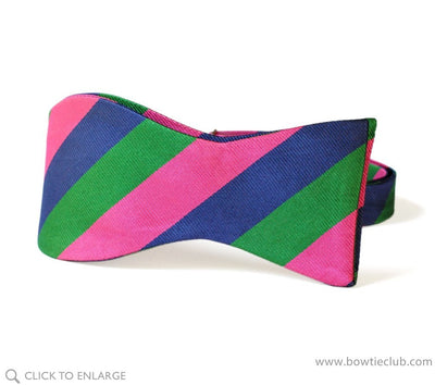 tie your own repp stripe bow tie