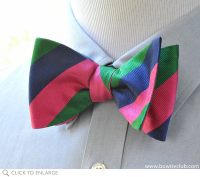 repp stripe bow tie on shirt