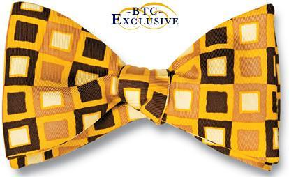 bow ties designer american made yellow silk squares