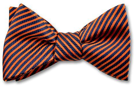 American Made Bow Ties Stripes Orange Blue
