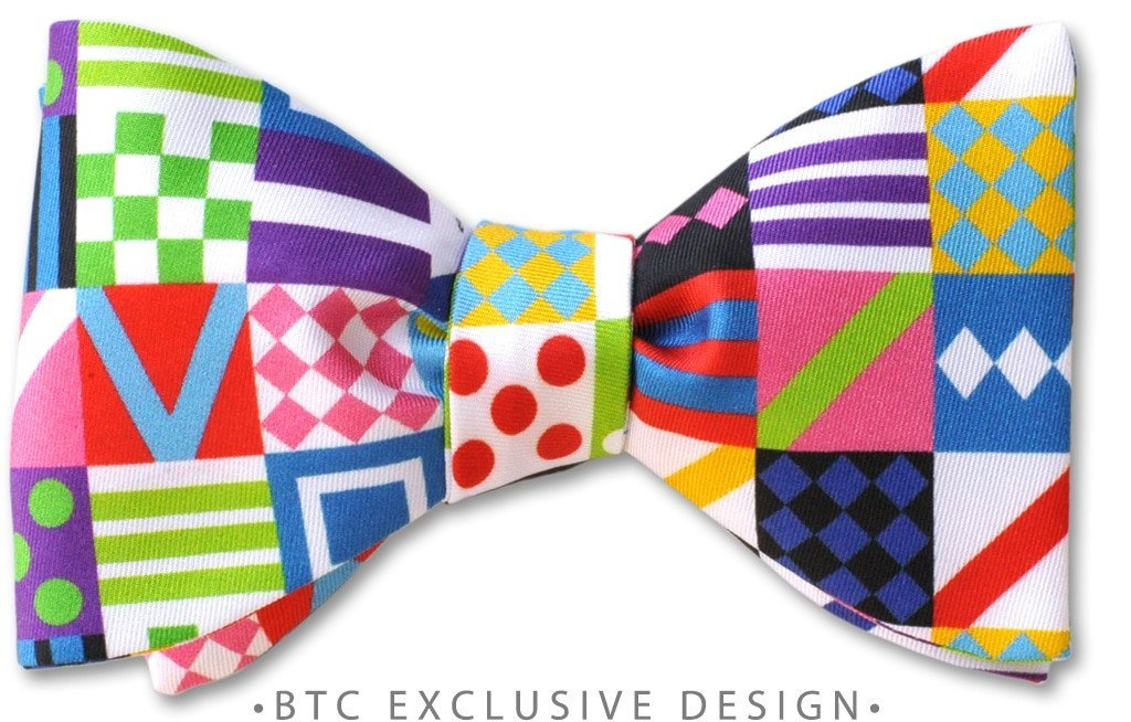 Jockey silks bow tie