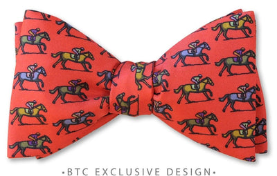 red horse bow tie pre-tied