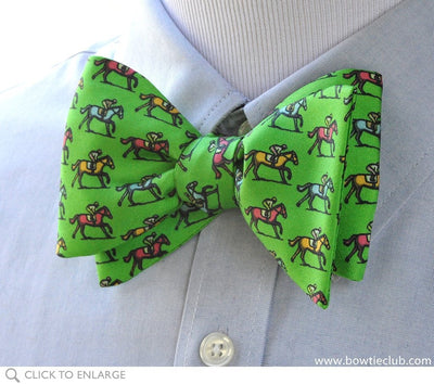 kentucky derby green bow tie on shirt