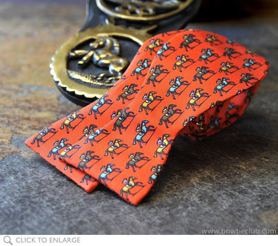 Trifecta Orange Bow Tie